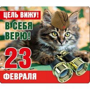 """Виниловый магнит """"23 февраля. цель вижу!.."""""""