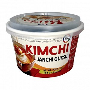 """Суп с лапшой в корейском стиле со вкусом кимчи """"KOREAN STYLE NOODLE SOUP with KIMCHI (JANCHI GUKSU"""" 168г"""