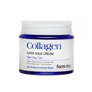Farm Stay Collagen Super Aqua Cream.Увлажняющий крем с коллагеном 80 мл