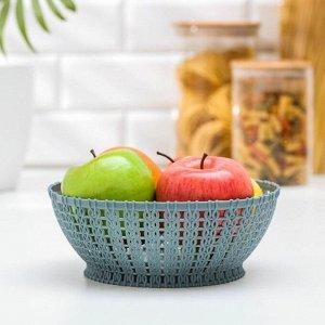 """Ваза для хлеба и фруктов 19,5 см """"Вязание"""", цвет МИКС"""