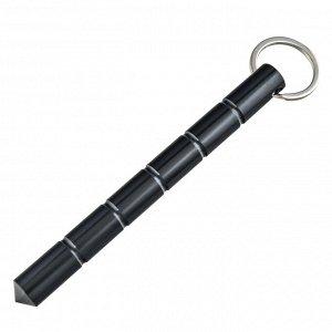 Аварийно-спасательный брелок-явара (черный) - Брелок из прочного алюминиевого сплава для разбивания стекол во время аварии и других экстренных ситуаций. Вес - 54 г, материал - дюралюминий, длина - 160