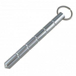 Тактический брелок-явара (серебристый) - Прочный и надежный брелок-явара для самообороны, действий в аварийных ситуациях. Вес - 54 г, материал - дюралюминий, длина - 160 мм, диаметр - 14 мм. №109