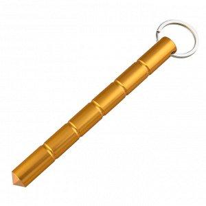 Брелок явара-куботан (золотистый) - Недорогой и незаменимый предмет самообороны для улицы. 100% легальный! Вес - 54 г, материал - дюралюминий, длина - 160 мм, диаметр - 14 мм. №112