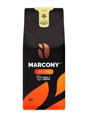Кофе Marcony AROMA со вкусом Французской ванили зерно 200 г. м/у