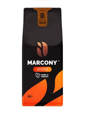 Кофе Marcony AROMA со вкусом Баварского шоколада зерно 200 г. м/у
