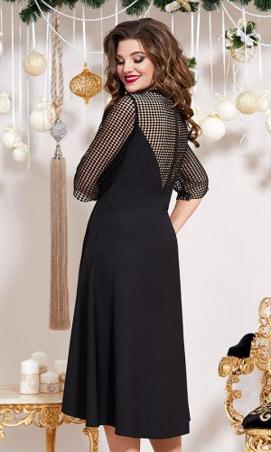 Платье Платье Vittoria Queen 13453 черный  Состав ткани: ПЭ-90%; Спандекс-10%;  Рост: 164 см.  СМОТРЕТЬ ВИДЕО  Посмотрите какое крутое платье с имитацией корсета! В нем ваша фигурка будет самой строй