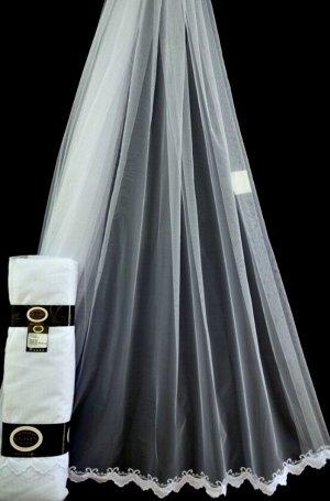 Тюль-сетка с вышивкой