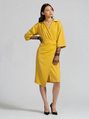 Платье на запах OD-560-1 горчица