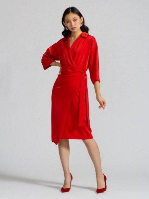 Платье на запах OD-560-3 красное