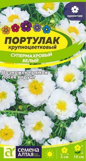 Портулак Супермахровый Белый/Сем Алт/цп 0,1 гр.