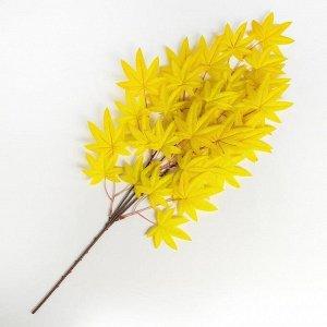 Декор «Листья на ветке», цвет жёлтый