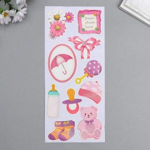 """Наклейка бумага """"Для малышки"""" 28,5х10,5 см"""