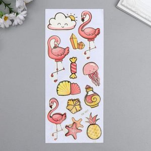 """Наклейка бумага """"Фламинго"""" 28,5х10,5 см"""