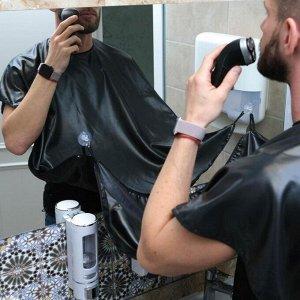 Пеньюар парикмахерский, 70 ? 120 см, на завязках/присосках, цвет чёрный