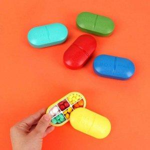 Таблетница «Pill Box», 6 секций, цвет МИКС