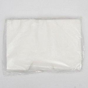 Салфетка Спанлейс для массажного стола Белый 30х40 с отверстием 50 шт/уп