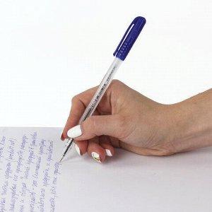 """Ручка шариковая STAFF """"EVERYDAY"""", СИНЯЯ, шестигранная, корпус прозрачный, узел 1 мм, линия письма 0,5 мм, 142815"""