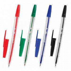 Ручки шариковые STAFF C-51, НАБОР 4 шт., АССОРТИ, узел 1 мм, линия письма 0,5 мм, 142816