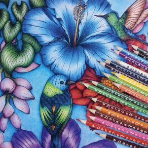 """Карандаши цветные ЮНЛАНДИЯ """"ЮНЛАНДИК-ДЕТЕКТИВ"""", 18 цветов, трехгранные, с раскраской, 181681"""