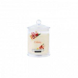 Свеча ароматическая в стеклянной банке Цветущая жимолость 30 часов горения