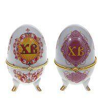 Шкатулка Яйцо 6*6*10см фарфор 2005016256968