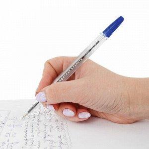 """Ручка шариковая ОФИСНАЯ ПЛАНЕТА """"Line"""", корпус прозрачный, узел 1 мм, линия письма 0,5 мм, синяя, 143205"""