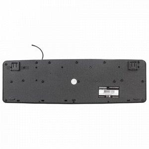 Клавиатура проводная SONNEN KB-8136, USB, 107 клавиш, черная, 512651