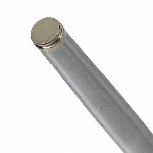 """Ручка подарочная перьевая BRAUBERG """"Larghetto"""", СИНЯЯ, корпус серебристый с хромированными деталями, линия письма 0,25 мм, 14347, 143475"""