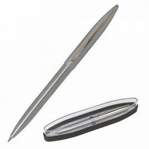 Ручка подарочная шариковая BRAUBERG Ballet, СИНЯЯ, корпус серебристый с хромированными деталями, линия письма 0,5 мм, 143480