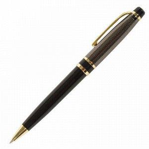 Ручка подарочная шариковая BRAUBERG Sonata, СИНЯЯ, корпус золотистый с черным, линия письма 0,5 мм, 143483