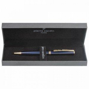 """Ручка подарочная шариковая PIERRE CARDIN (Пьер Карден) """"Eco"""", корпус синий, латунь, золотистые детали, синяя, PC0871BP"""