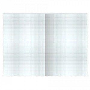 Тетрадь А4, 96 л., BRAUBERG скоба, клетка, обложка картон, ОДИН ЦВЕТ, 401880