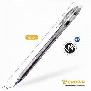 "Ручка стираемая гелевая CROWN ""Erasable Jell"", ЧЕРНАЯ, узел 0,5 мм, линия письма 0,34 мм, EG028"