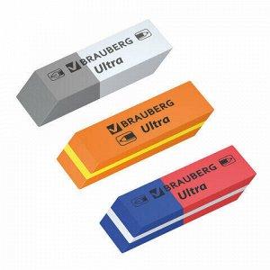 "Ластики BRAUBERG ""Ultra Mix"" 6 шт., размер ластика 41х14х8 мм, ассорти, натуральный каучук, 229602"