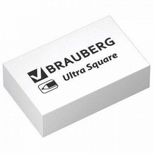"Ластики BRAUBERG ""Ultra Square"" 6 шт., размер ластика 29х18х8 мм, белые, натуральный каучук, 229603"