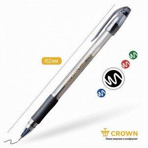 "Ручка гелевая с грипом CROWN ""Hi-Jell Needle Grip"", ЧЕРНАЯ, узел 0,7 мм, линия письма 0,5 мм, HJR-500RNB"