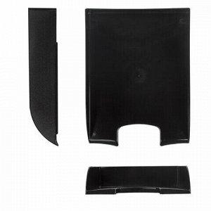 """Лоток горизонтальный для бумаг BRAUBERG """"Office style"""", 320х245х65 мм, черный, 237286"""