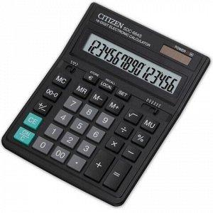 Калькулятор настольный CITIZEN SDC-664S (199x153 мм), 16 разрядов, двойное питание