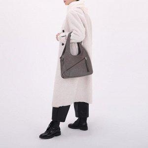 Сумка женская, отдел на молнии, 2 наружных кармана, цвет хаки