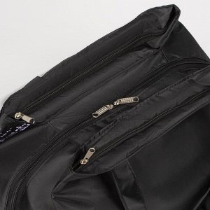 Сумка спортивная, отдел на молнии, 2 наружных кармана, цвет чёрный