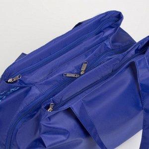 Сумка спортивная, отдел на молнии, 2 наружных кармана, цвет ультрамарин