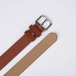 Ремень женский, ширина 3 см, винт, пряжка металл, цвет рыжий