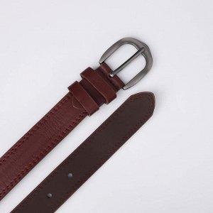 Ремень женский, ширина 3 см, винт, пряжка металл, цвет бордовый