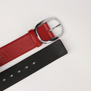 Ремень женский, ширина 5 см, винт, пряжка металл, цвет красный