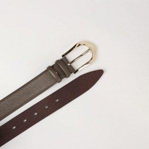 Ремень женский, ширина 3,5 см, винт, пряжка металл, цвет оливковый
