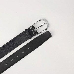 Ремень женский, ширина 3,5 см, пряжка металл, цвет тёмно-серый