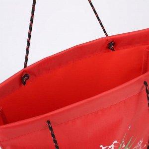 Сумка хозяйственная, отдел без застёжки, цвет красный