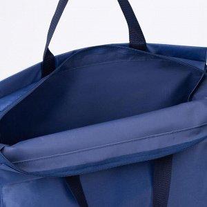 Сумка хозяйственная, отдел без застёжки, цвет синий