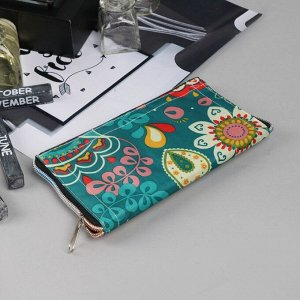 Сумка хозяйственная «Цветы», трансформируется в кошелёк, водонепроницаемая, цвет зелёный