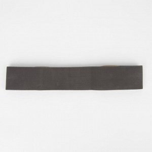 Ремень женский, ширина 5,5 см, резинка, пряжка серебро, цвет тёмно-серый